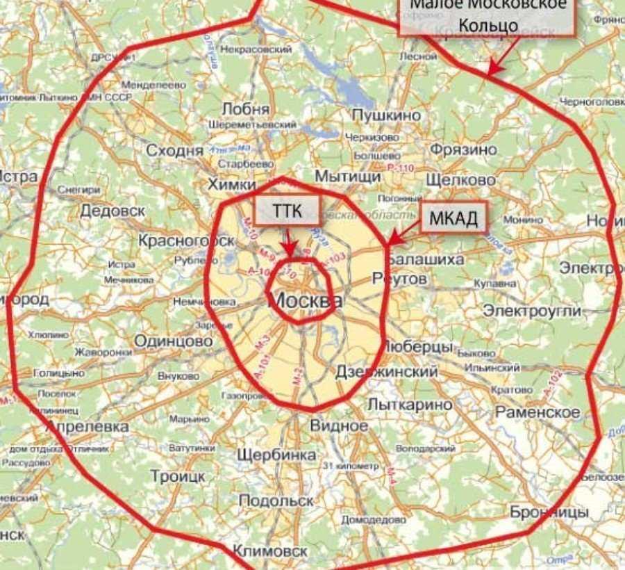 ТК кольцо Москва и МКАД